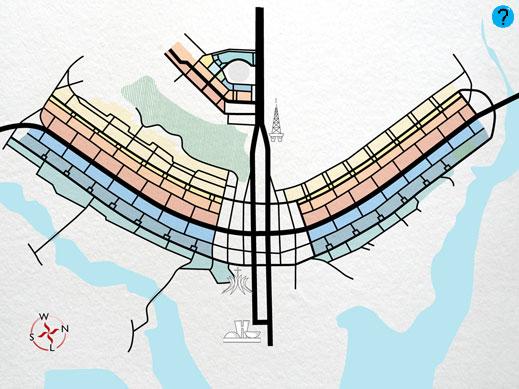 Resultado de imagen para estructura de la ciudad de brasilia